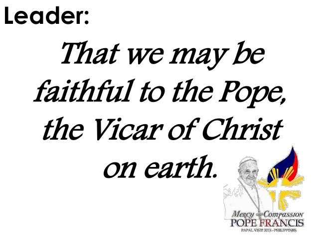 National Prayer for the Papal Visit