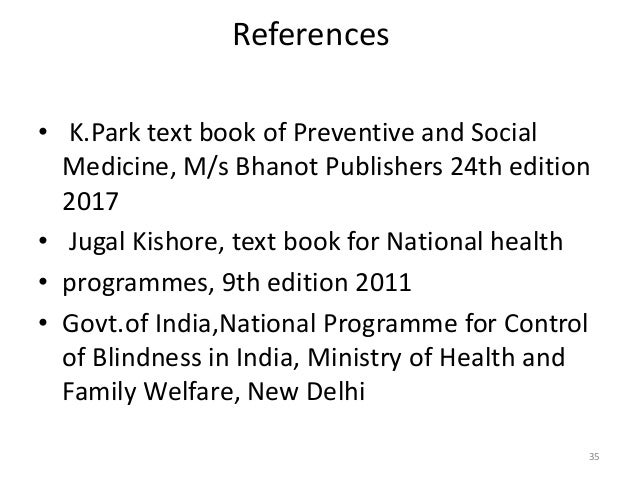 National programme for control of blindness 34 35 references krk text book of preventive and social medicine fandeluxe Images