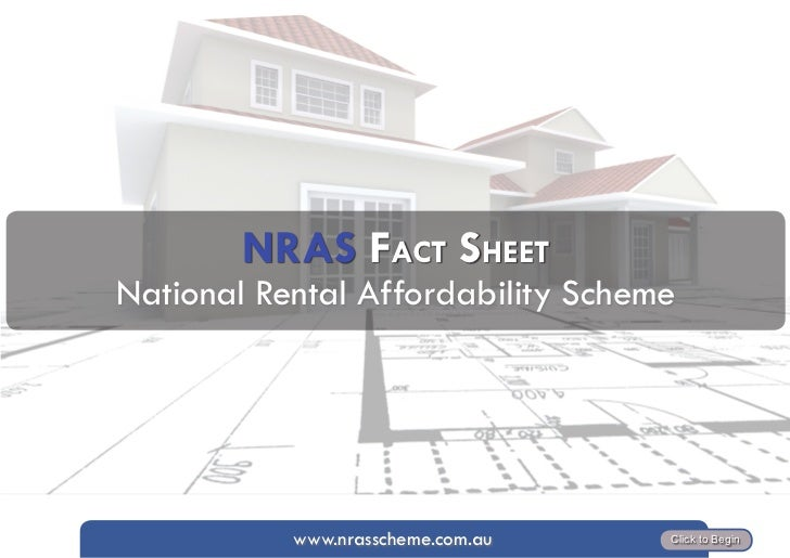 NRAS FAct Sheet   National Rental Affordability Scheme     By Jo Brown     www.nrasscheme.com.au   Click to Begin
