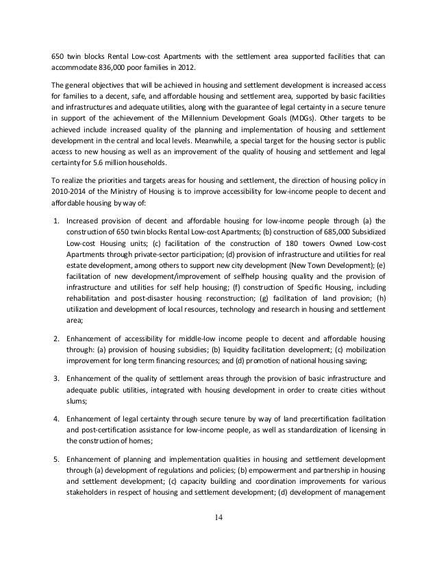 essay on slum area development