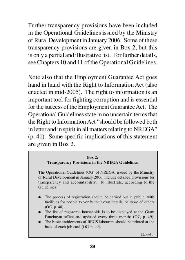 the national rural employment guarantee act Mahatma gandhi national rural employment guarantee act (mgnrega) as  social safety net: analysis of public works in odisha, india tushar kanti.