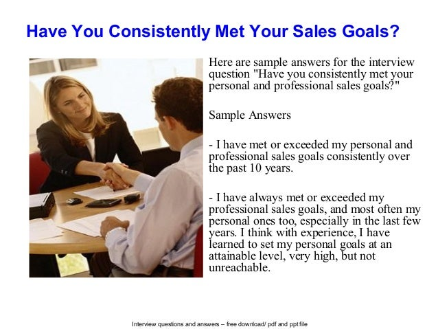 National sales manager interview questions