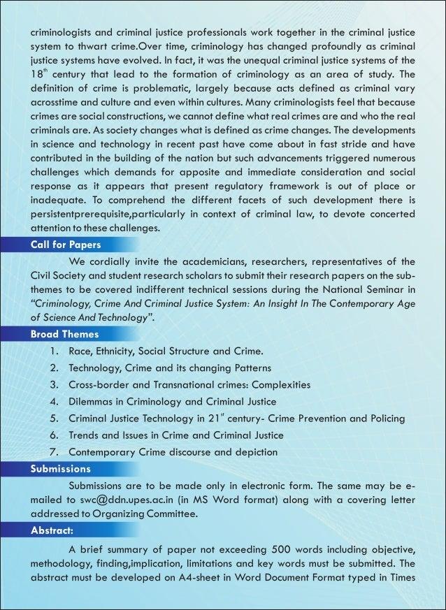 Criminal law fields of study