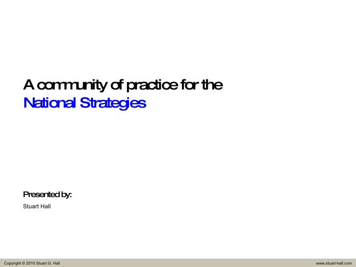 A community of practice for the  National Strategies Presented by: Stuart Hall