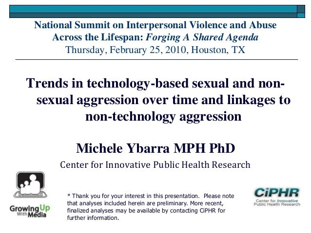 National Summit on Interpersonal Violence and AbuseAcross the Lifespan: Forging A Shared AgendaThursday, February 25, 2010...