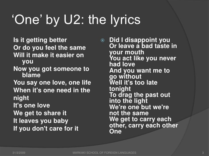 You had a bad day lyrics