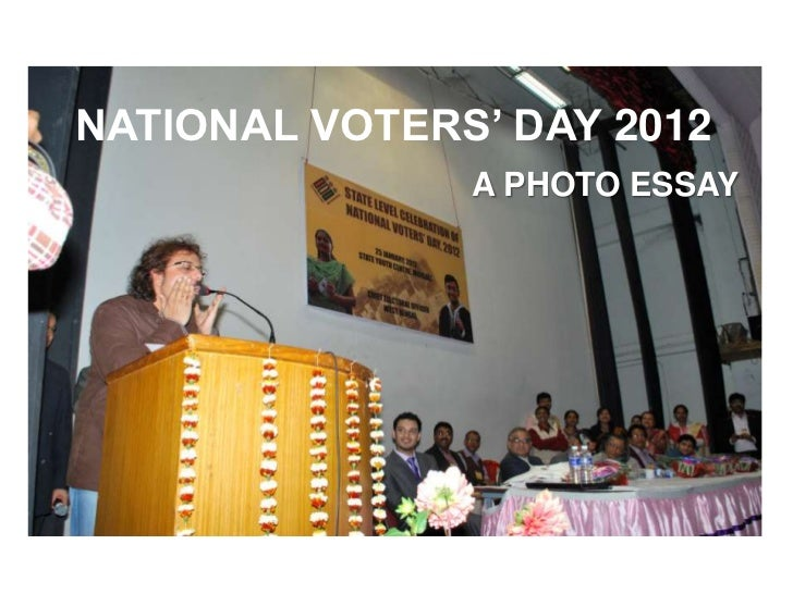NATIONAL VOTERS' DAY 2012               A PHOTO ESSAY