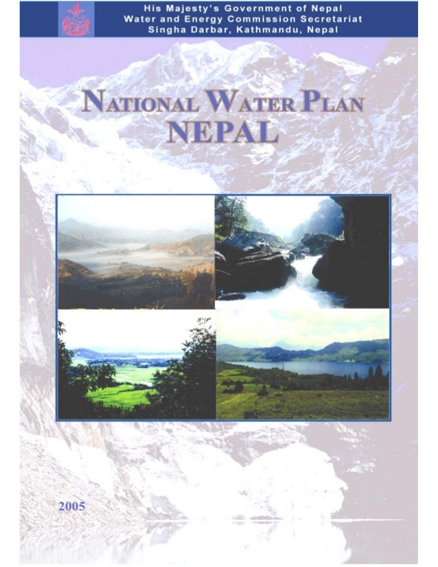 National Water Plan Nepal 2005 by WECS