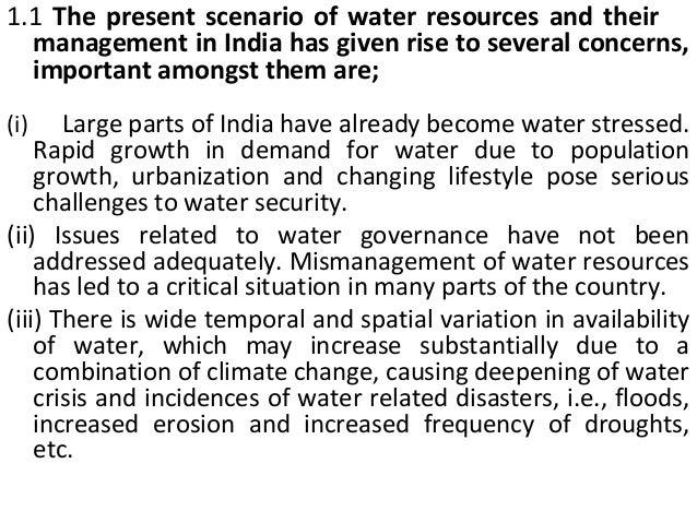 Mismanagement of water distribution