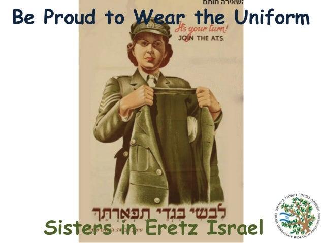 Be Proud to Wear the Uniform  Sisters in Eretz Israel