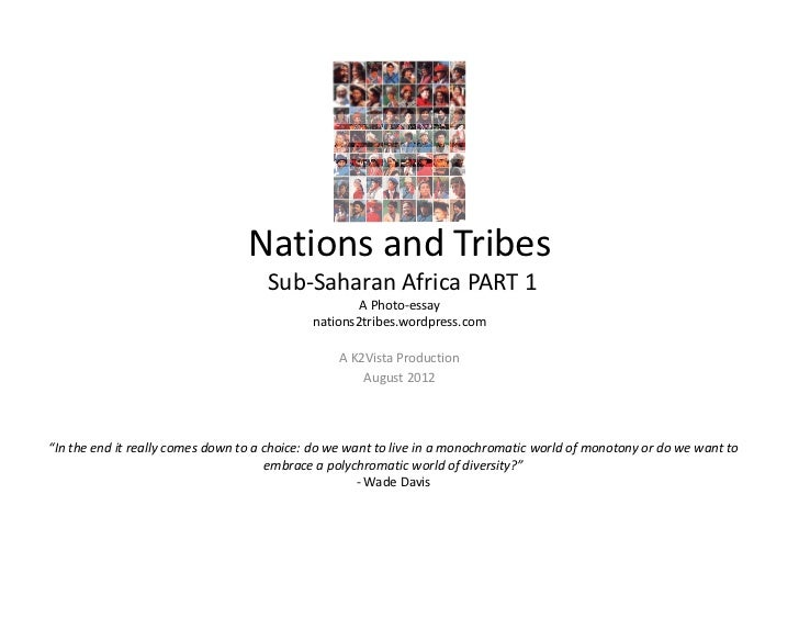 Nations and Tribes                                     Sub‐Saharan Africa PART 1                                          ...