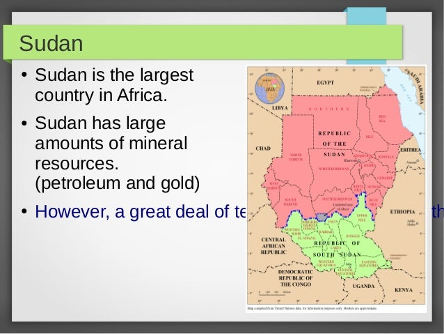 Nations Of Africa - Largest country in africa