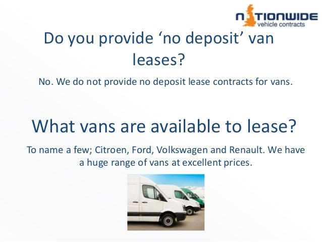 Nationwide Vehicle Contracts - Van Info FAQs