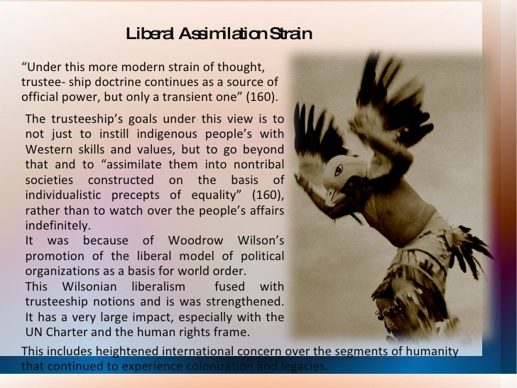 the goals in assimilation of the indians This helps to explain why relations between the federal government and the native americans have been so troubled  federal policy towards native americans has lurched back and forth.