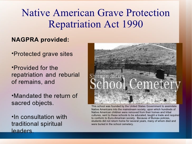 Repatriation and reburial issues with native