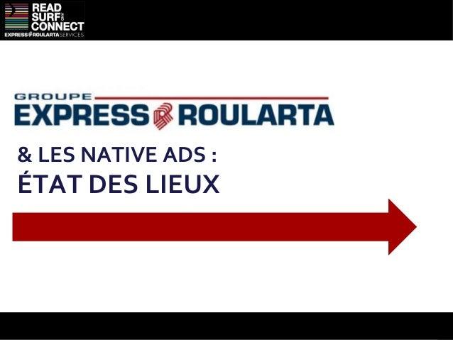 Une publicité intégrée aux flux des sites                                         De la publicité intégréeConception de 3 ...