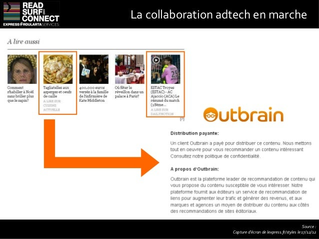 Bibliographie• Study says half of media buyers will try native advertising in 2013 (PaidContent)• Solve: Media Buyers Warm...