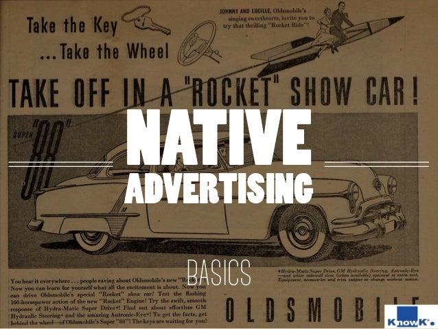 NATIVE ADVERTISING BASICS