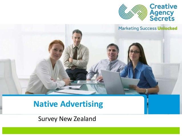Native Advertising Survey New Zealand
