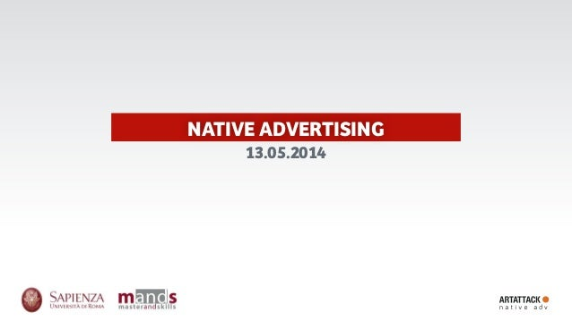 NATIVE ADVERTISING 13.05.2014