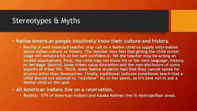 Stereotypes about indigenous peoples of North America