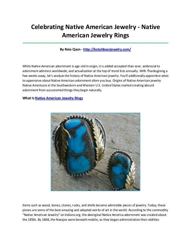 Celebrating Native American Jewelry - Native American Jewelry Rings ______________________________________________________...
