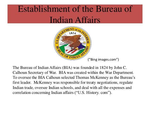 Bureau Of Indian Affairs 1824