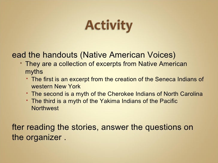 short native american creation stories