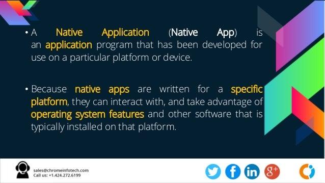 Native Application Development Company Slide 3