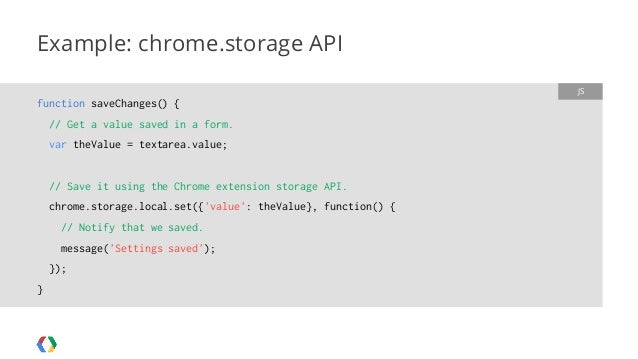 chrome extension chrome.storage.local
