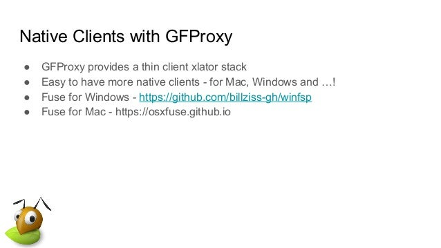 Native Clients, more the merrier with GFProxy!