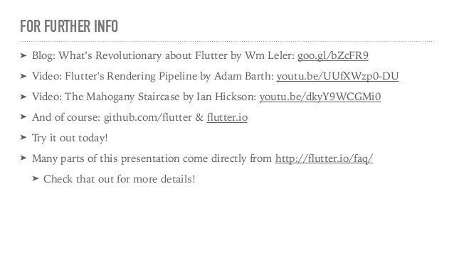 Native mobile application development with Flutter (Dart)