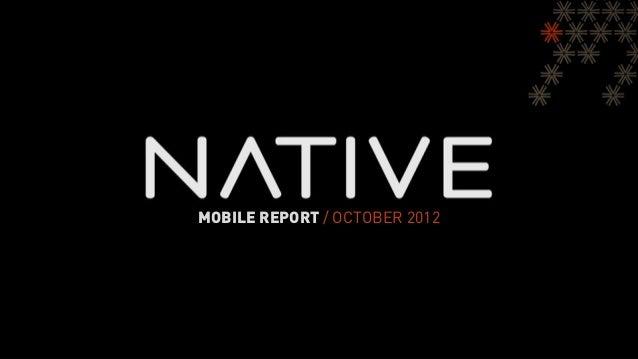 MOBILE REPORT / OCTOBER 2012
