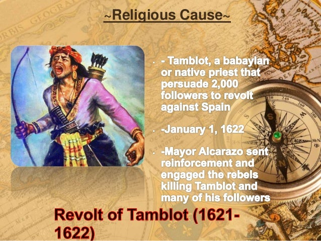 Native revolts against spain