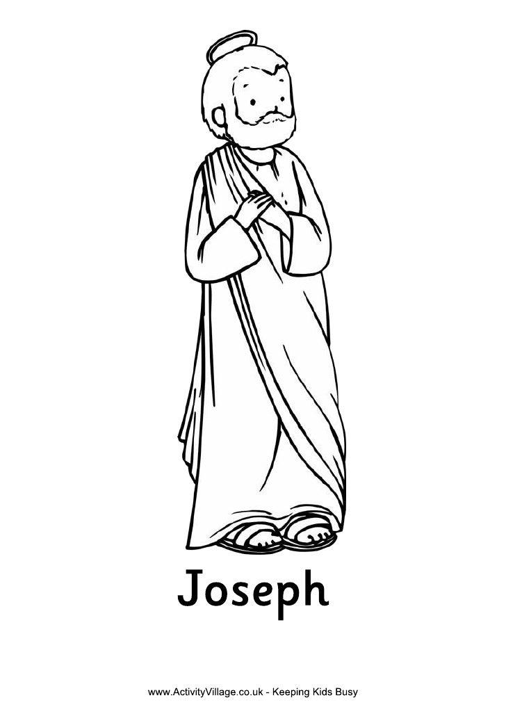 Nativity colouring joseph