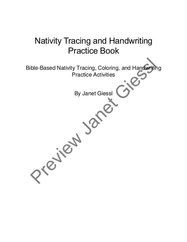 Nativity Tracing and Handwriting Practice Book Bible-Based Nativity Tracing, Coloring, and Handwriting Practice Activities...