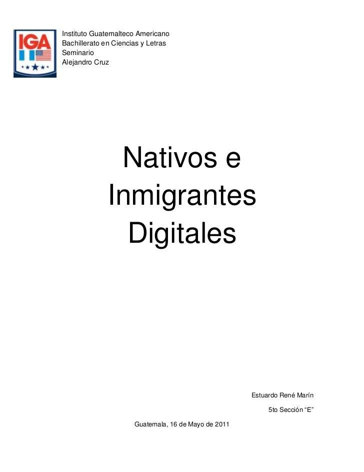 lefttopInstituto Guatemalteco Americano<br />Bachillerato en Ciencias y Letras<br />Seminario<br />Alejandro Cruz<br />Nat...