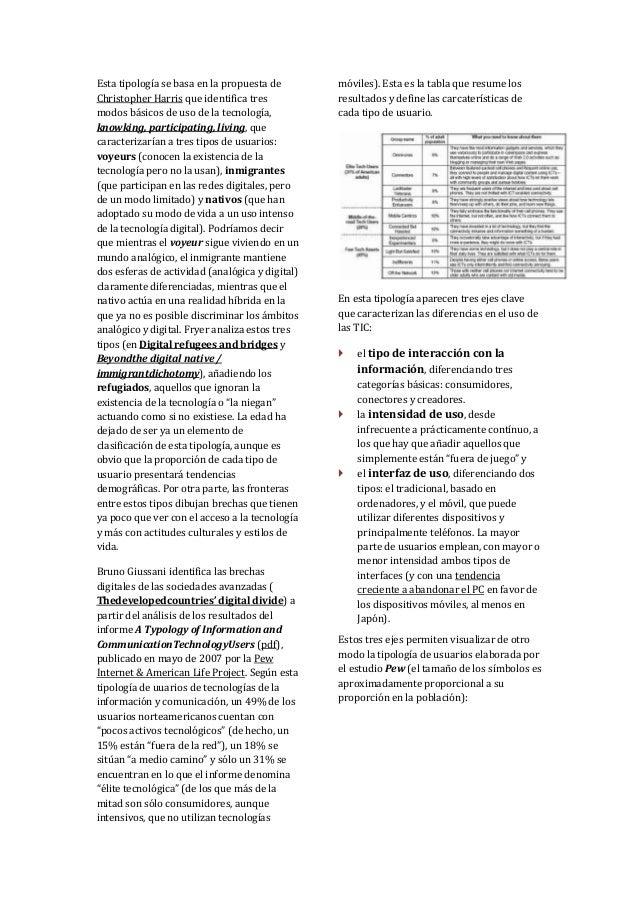 Esta tipología se basa en la propuesta de        móviles). Esta es la tabla que resume losChristopher Harris que identific...