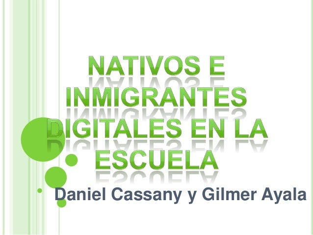 Daniel Cassany y Gilmer Ayala