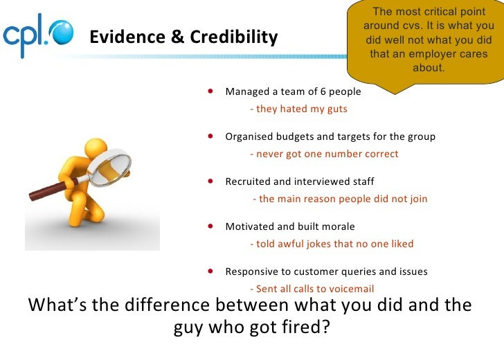 The most critical point                                                      around cvs. It is what you      Evidence & Cr...