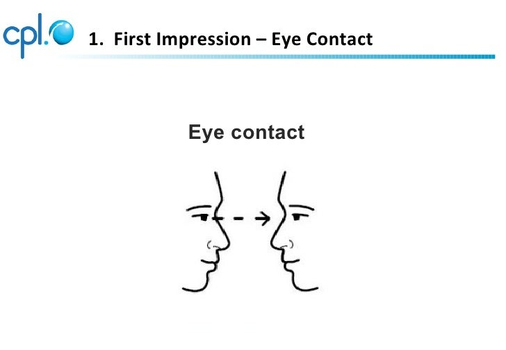 1. First Impression – Eye Contact           Eye contact