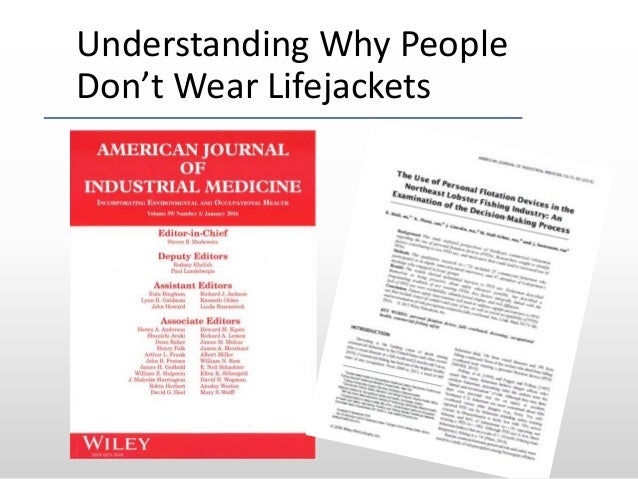 Understanding Why People Don't Wear Lifejackets