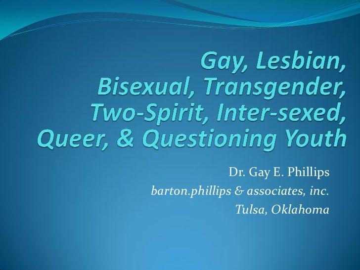 Dr. Gay E. Phillipsbarton.phillips & associates, inc.                Tulsa, Oklahoma