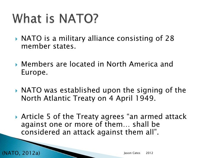 an overview of northern atlantic treaty organization nato Start studying apwh ch8 learn vocabulary, terms, and more with flashcards, games, and other study tools search create log in sign up log in sign up 60 terms liseloyola apwh ch8 north atlantic treaty organization (nato.