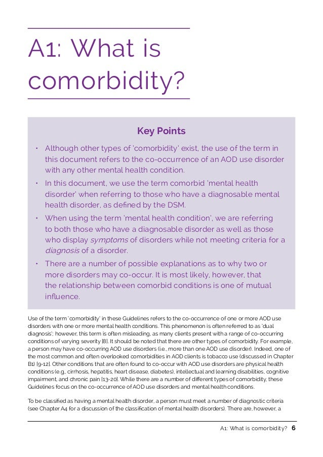 Natonal Comorbidity Guidelines 2016 – Co-occurring Disorders Worksheets