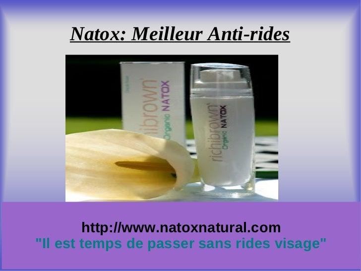 """Natox: Meilleur Anti-rides        http://www.natoxnatural.com""""Il est temps de passer sans rides visage"""""""