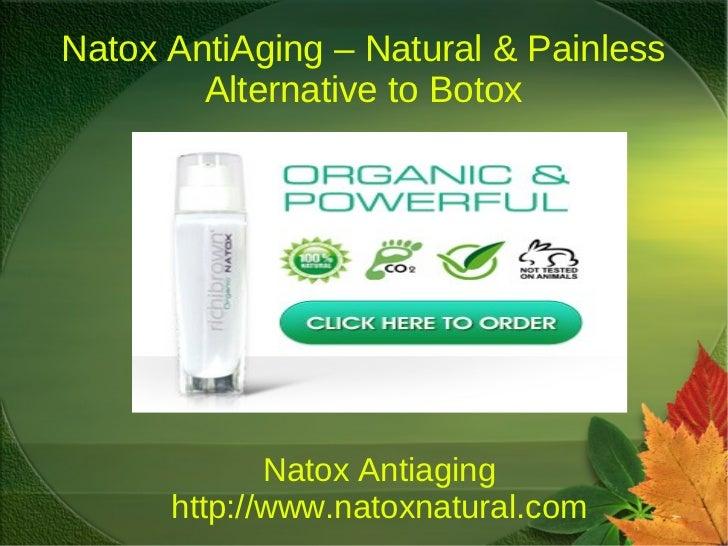 Natox AntiAging – Natural & Painless        Alternative to Botox             Natox Antiaging      http://www.natoxnatural....
