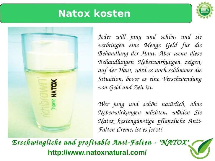Natox kosten                        Jeder will jung und schön, und sie                        verbringen eine Men...