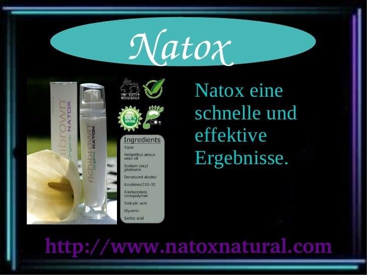 Natox              Natox eine              schnelle und              effektive              Ergebnisse.http://www.natoxnat...