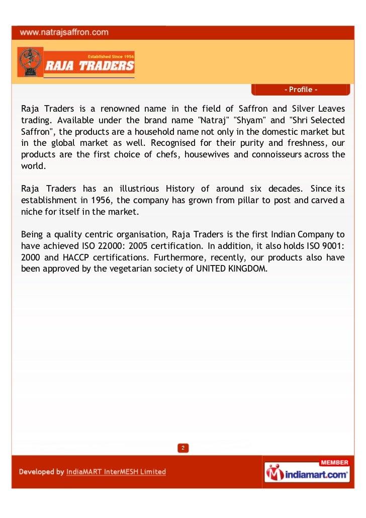 Raja Traders, Saharanpur, Kashmiri Saffron Slide 2